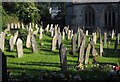 SX5356 : Gravestones at Plympton St Mary by Derek Harper