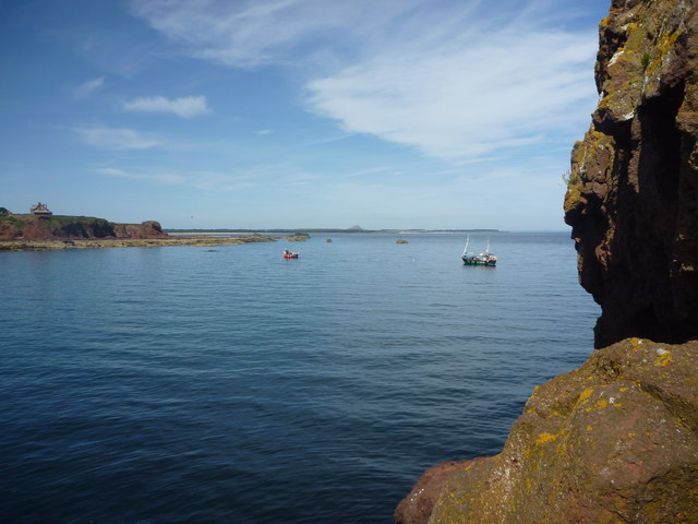 Coastal East Lothian : Calm Water Outside Victoria Harbour, Dunbar