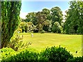 NZ0878 : Croquet Lawn, Belsay Hall by David Dixon