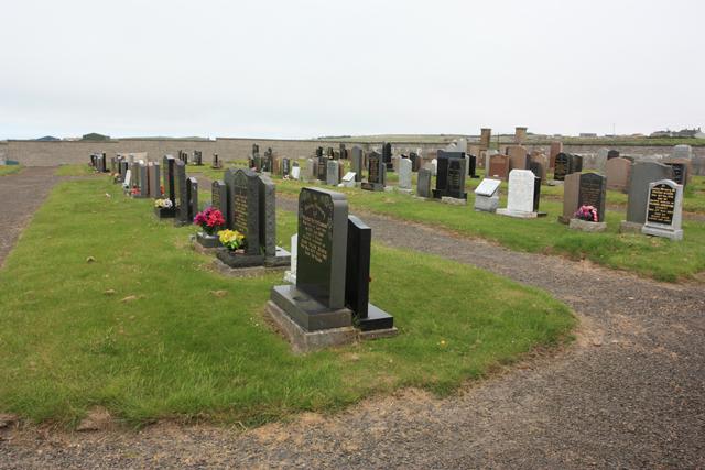 Canisbay Parish Church - new graveyard
