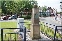 SJ9499 : Replica of the Old Cross by Bill Boaden