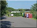 SU8853 : Recycling bins, Carrington recreation ground by Alan Hunt