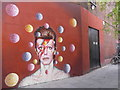 TQ3175 : David Bowie mural, Tunstall Road SW9 by Robin Sones