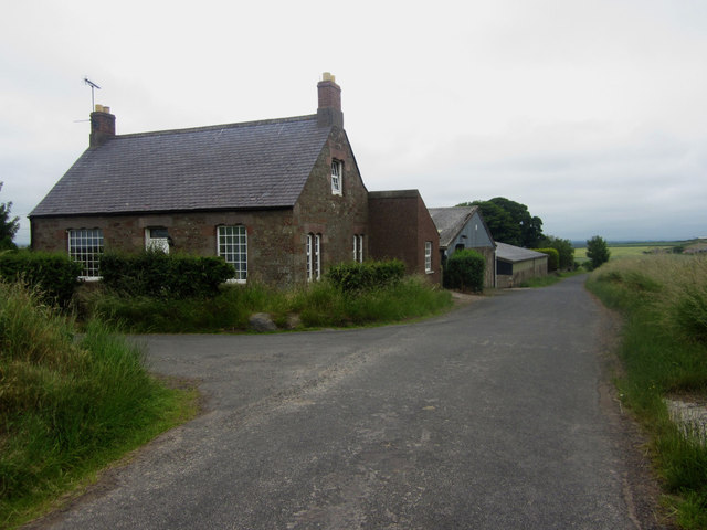 Country road past High Letham