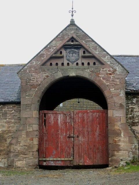 Entrance to range of buildings at Baldersbury Hill