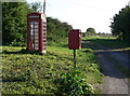 TF5622 : Telephone and post box along Rhoon Road by Mat Fascione