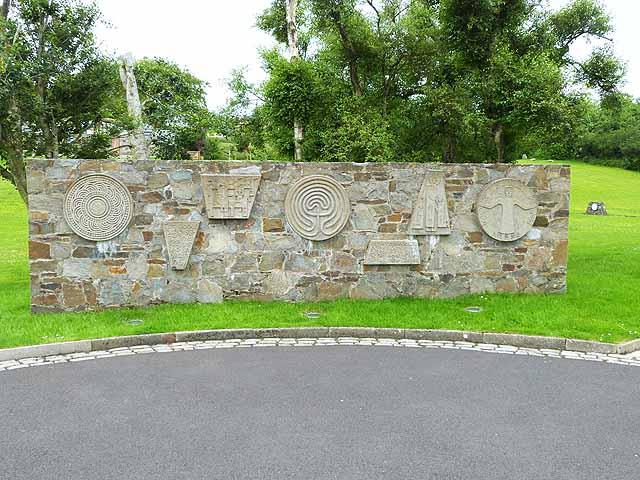 Panel outside St Aengus' Church, Burt
