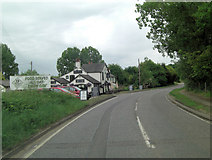 TM2850 : A1152 approaches entrance to The Wilford Bridge by Stuart Logan