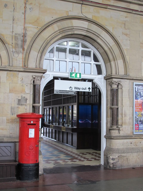 Middlesbrough station - pillared arch
