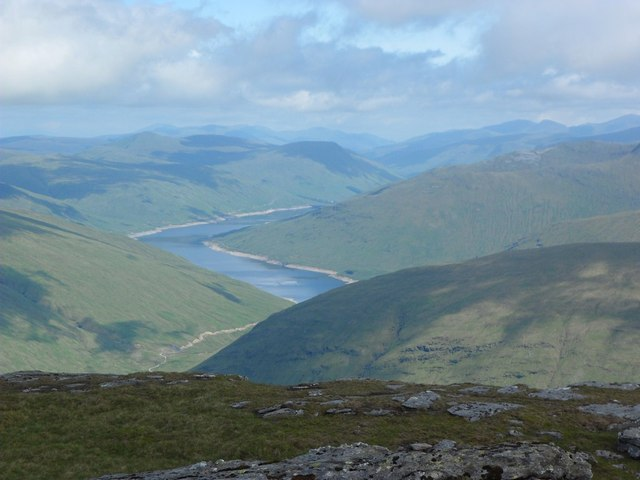 View from the summit of Beinn Dorain