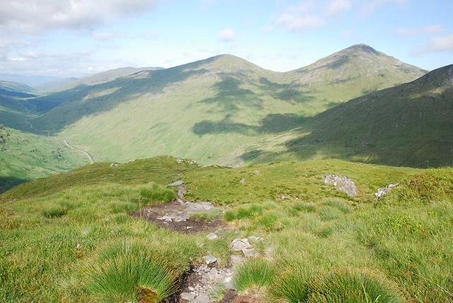 Beinn Chorranach from the north ridge of Beinn an Lochain