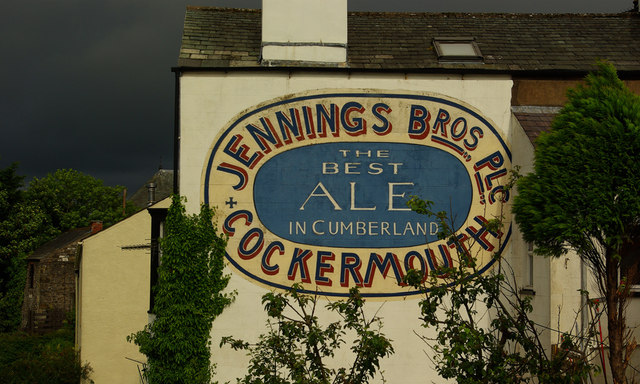 Painted advertisement for Jennings Brewery, Cockermouth
