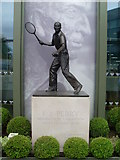 TQ2472 : Fred Perry Statue at Wimbledon by David Hillas