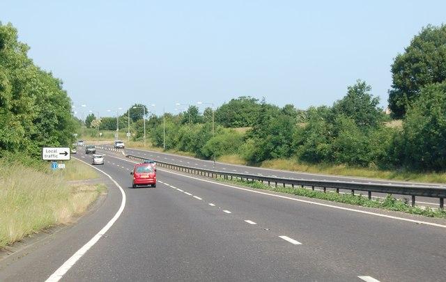 A21 approaching Henwood Green