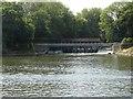 TQ0765 : Weir at Weybridge by Alan Hunt