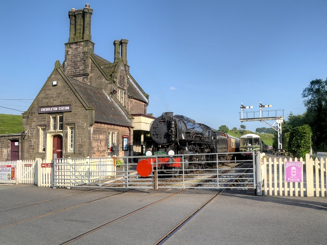Cheddleton Station and Level Crossing, Churnet Valley Railway