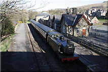 SD8789 : Hawes Museum, former station, from Brunt Acres Road bridge by Roger Templeman