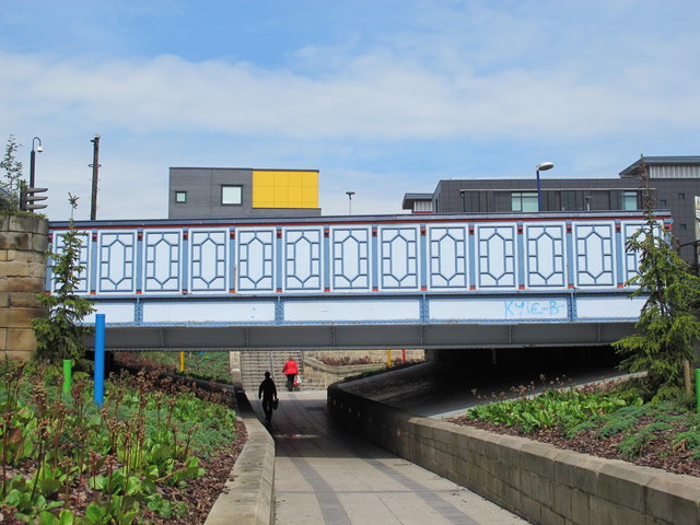 Pedestrian underpass west of Middlesbrough station
