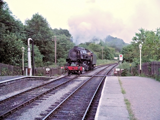 Locomotive Approaching Kingsley and Froghall  Station