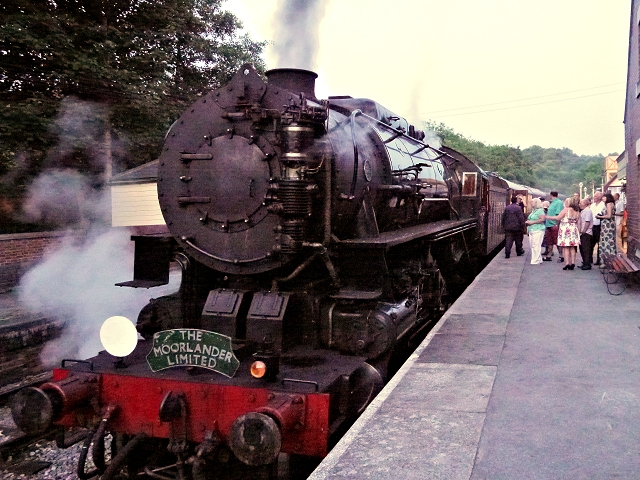 Steam Train at Kingsley and Froghall Station