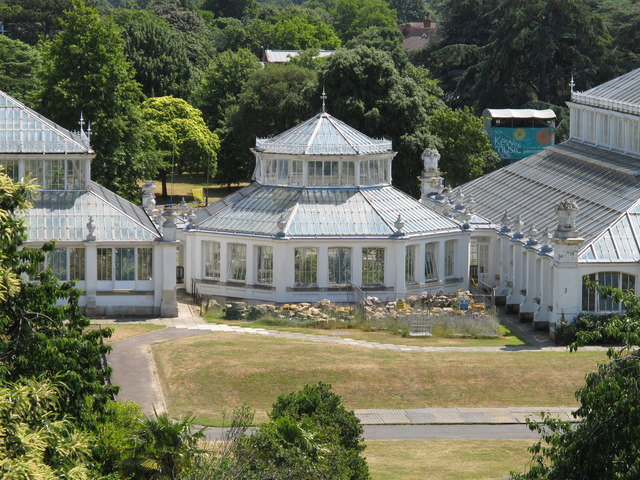 Temperate House octagon from tree walkway, Kew Gardens