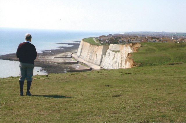 Peacehaven, Cliffs and Sea by Peter Jeffery
