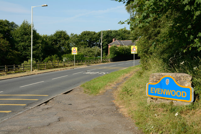 Road entering Evenwood