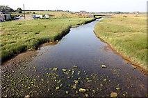 SH3568 : The Afon Ffraw at Aberffraw by Jeff Buck