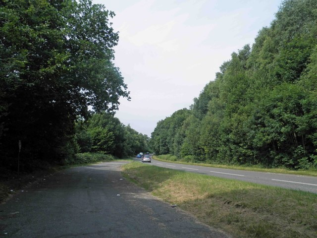 Large layby on the A494