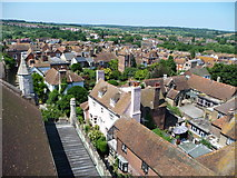 TQ9220 : View west from Rye Church tower by Christine Johnstone
