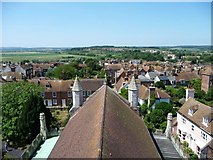 TQ9220 : View west-south-west from Rye Church tower by Christine Johnstone