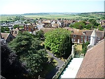 TQ9220 : View south-west from Rye Church tower by Christine Johnstone