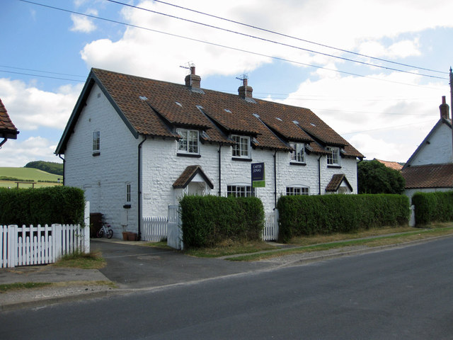 White-painted stone cottages