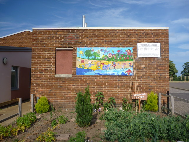 East Lothian Townscape : The Vegetable Patch, West Barns Primary School