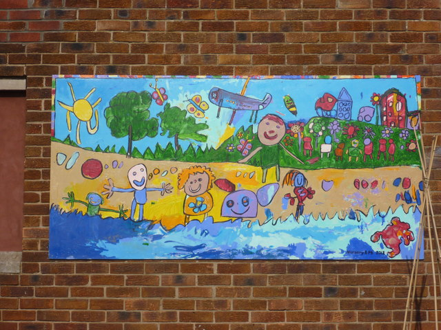 East Lothian Townscape : External Mural at West Barns Primary School