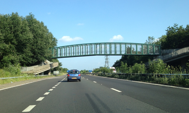 Footbridge over the southbound A404(M) south of Maidenhead