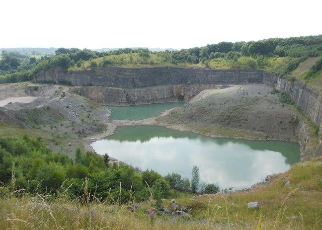 Overlooking Shiningbank Limestone Quarry
