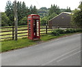 SO0943 : Doorless phonebox near Erwood by Jaggery