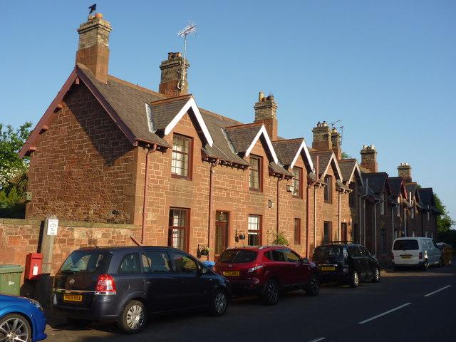 Rural East Lothian : Terrace of Houses... © Richard West cc-by-sa ...
