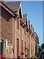 NT6977 : East Lothian Architecture : Guttering And Downpipes at Broxburn, near Dunbar by Richard West