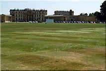 SP6737 : Cricket in front of Stowe School by Philip Jeffrey