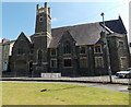 SO0451 : North side of  Builth Ecumenical Church, Builth Wells  by Jaggery