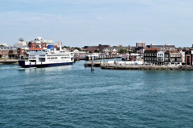 Isle of Wight Ferry Approaches Portsmouth Ferry Terminal