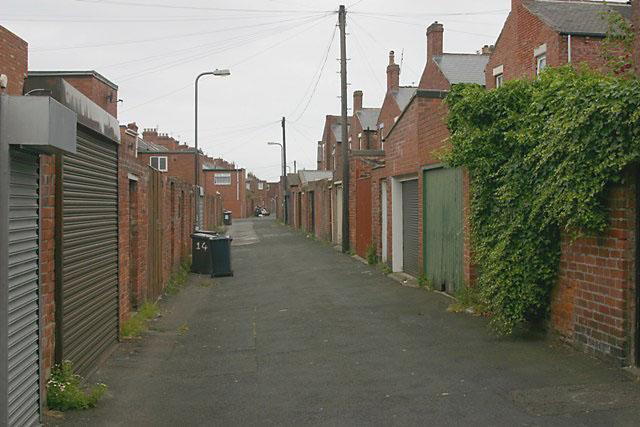 Back lane, South Shields
