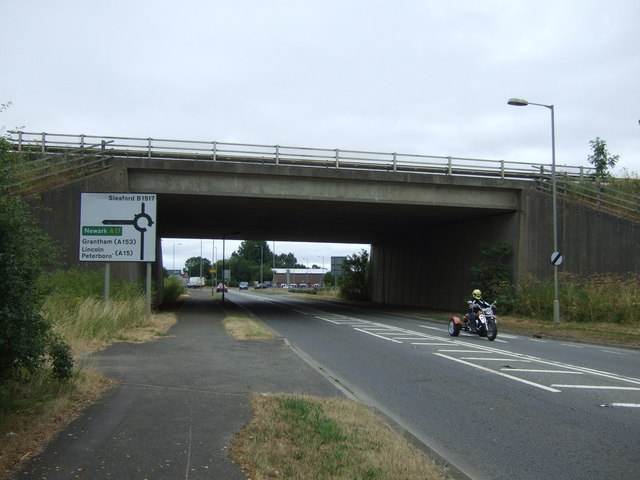 A17 bridge over East Road (A153)