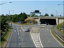 TQ0485 : Part of roundabout at start of M40 by Robin Webster