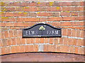 TM3485 : Elms Farm sign by Adrian Cable