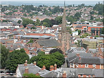 SO5139 : View from Hereford Cathedral Tower 5 - NE by Keith Edkins