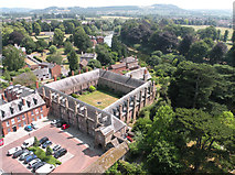 SO5139 : View from Hereford Cathedral Tower 7 - SE by Keith Edkins