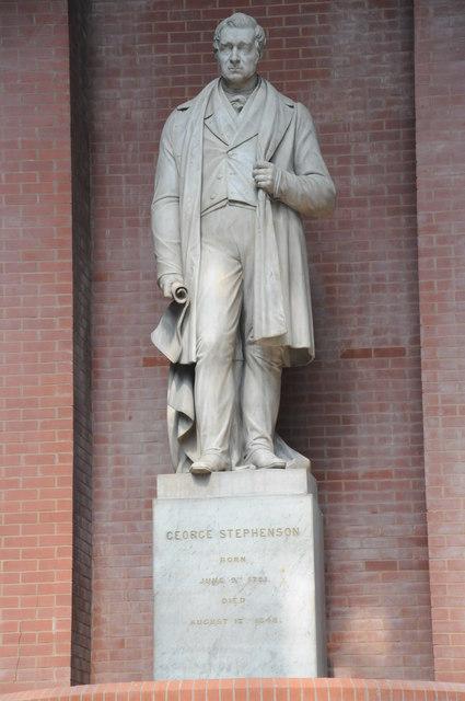 Statue of George Stephenson © Philip Halling cc-by-sa/2.0 ...